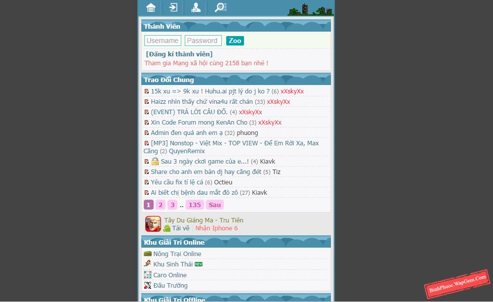 Share code MXH giống Vina4u.Mobi - BinhPhuoc.WapGem.Com